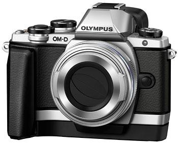 Foto OM-D E-M10 mit Griff ECG-1 und Objektivdeckel LC-37C geschlossen