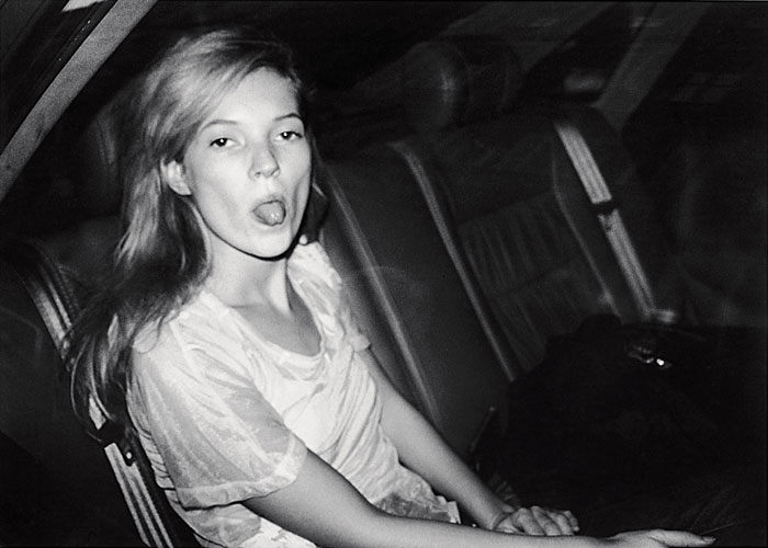 Foto Bruno Mouron, Kate Moss lors de la Fashion Week, Paris, 1992