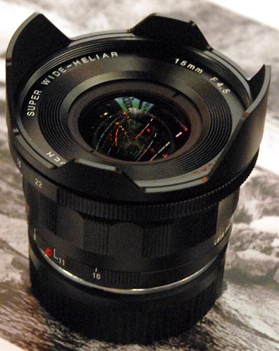 Foto Super Wide Heliar 4,5/15 mm VM II aspärisch