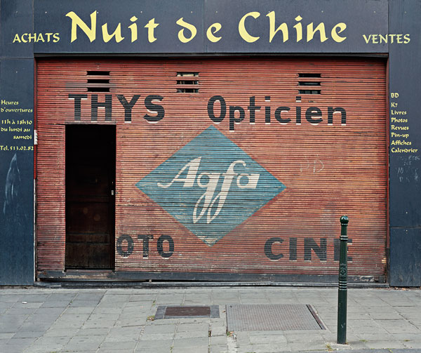 Foto Stephan Vanfleteren, Thys Opticien Agfa, Brussels, 2004