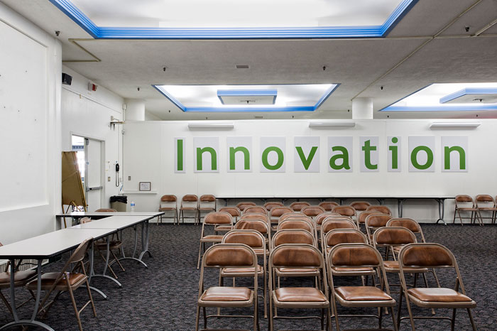 "Foto Catherine Leutenegger, ""INNOVATION"" conference room, Building 28, Kodak Park, 2012"