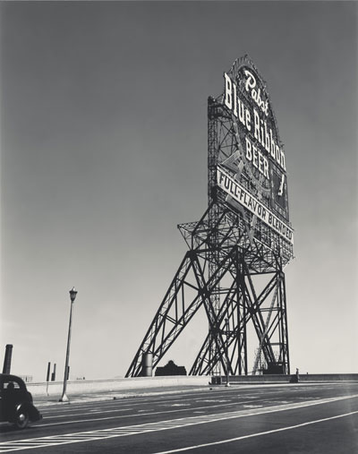 Foto Walker Evans, Pabst Blue Ribbon Sign, Chicago, Illinois, 1946