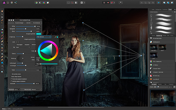 Screen: Affinity Photo - Filtervorschau