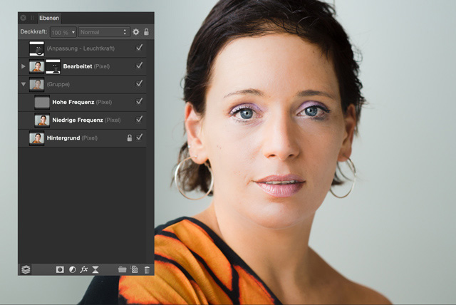 Affinity Photo: Filter für Frequenztrennung