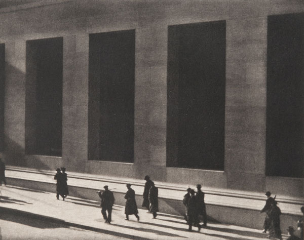 Foto Paul Strand, Wall Street, New York, 1915
