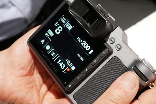 Hasselblad X1D: Touchscreen