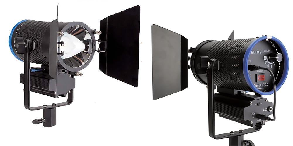 helios led mobile 20 watt dauerlicht f r studio und on location photoscala. Black Bedroom Furniture Sets. Home Design Ideas