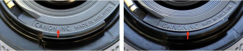 Canon EF 50mm F1.8 II Original und Fälschung