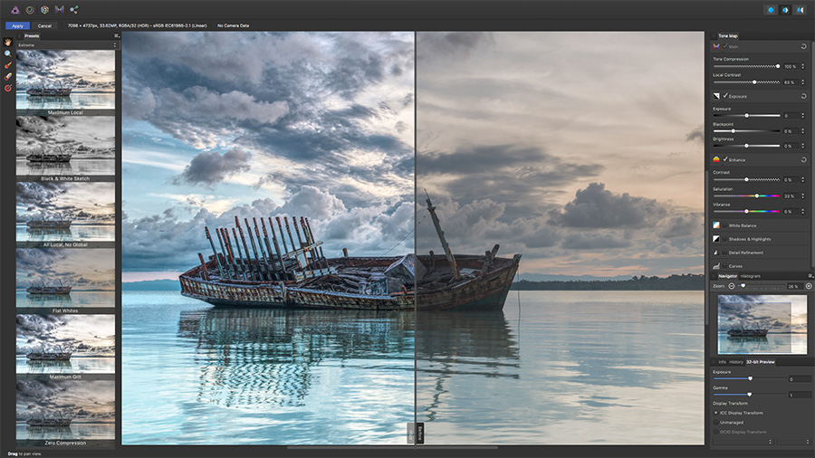 Affinit Photo 1.5: Tone-Mapping