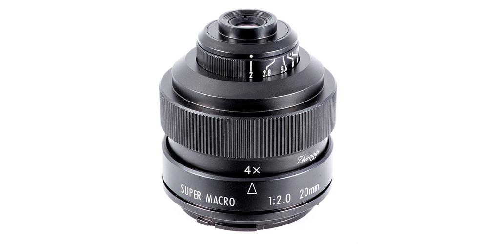 Lupenobjektiv für Kleinbild: Zhongyi Mitakon 20mm f/2.0 4.5X Super Macro