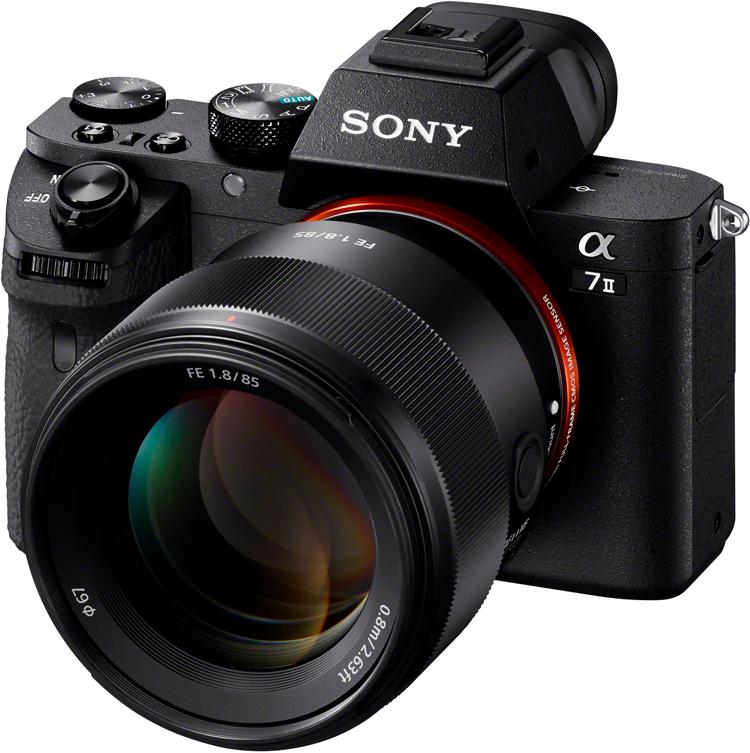 SEL 85F18 von Sony an Alpha 7II