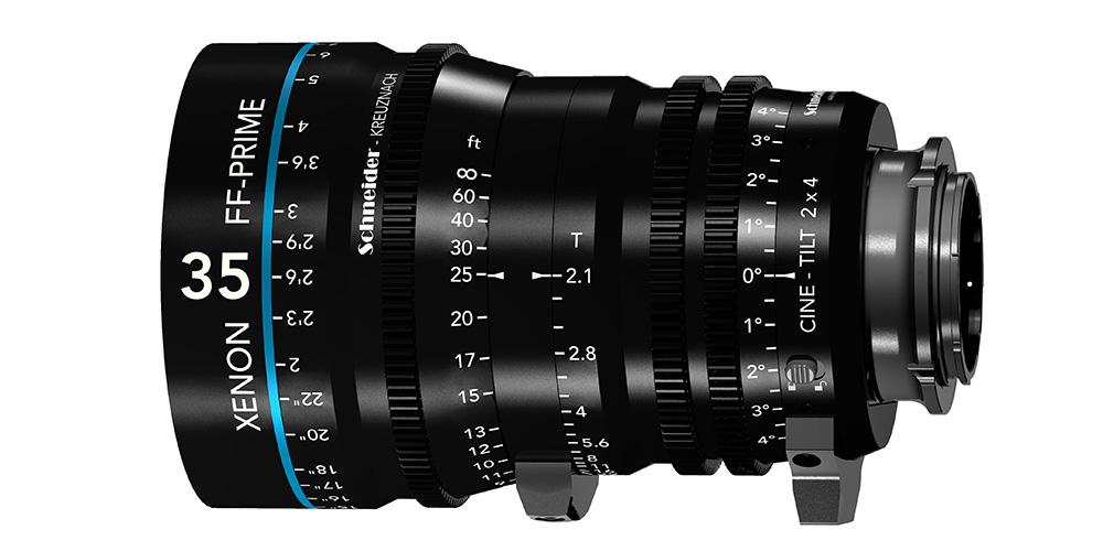 Schneider-Kreuznach Xenon FF-Prime Cine-Objektive jetzt auch mit Tilt-Funktion