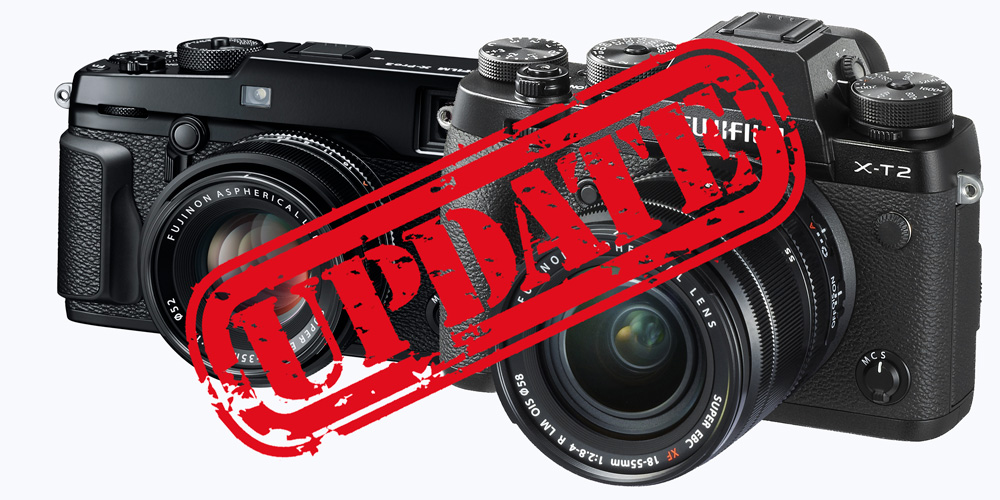 Fujifilm aktualisiert Firmware für X-T2, X-Pro2 und einige Objektive
