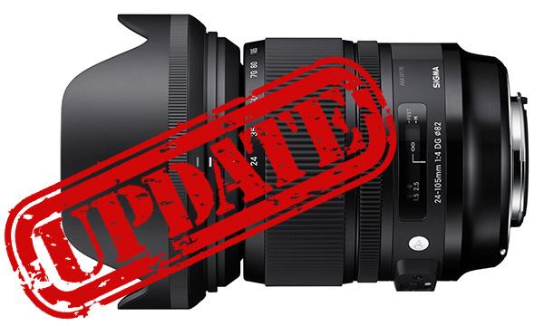 Sigma aktualisiert Firmware für 24-105mm F4 Art und E-Mount-Konverter MC-11
