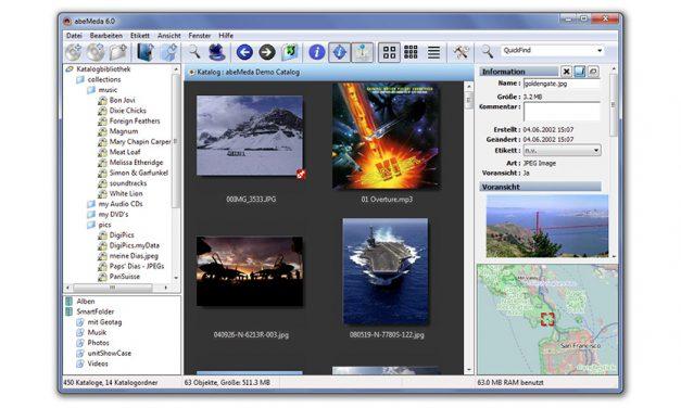 Fotoverwaltung: AbeMeda 7 katalogisiert alles und hilft beim Verschlagworten