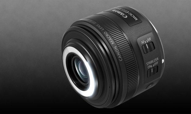 Canon stellt EF-S 35mm 1:2.8 Macro IS STM mit integrierter Leuchte vor