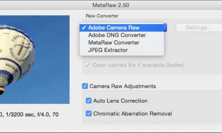 MetaRaw 2.5: Aktueller RAW-Konverter für ältere Versionen von Photoshop und Photoshop Elements