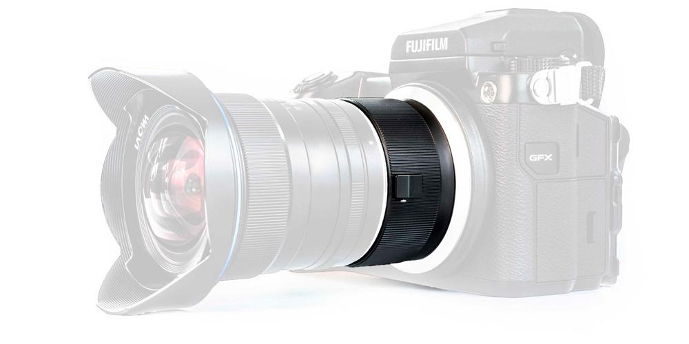 Laowa KFC adaptiert Kleinbildobjektive ohne Randabschattung an Fujifilm GFX-50S