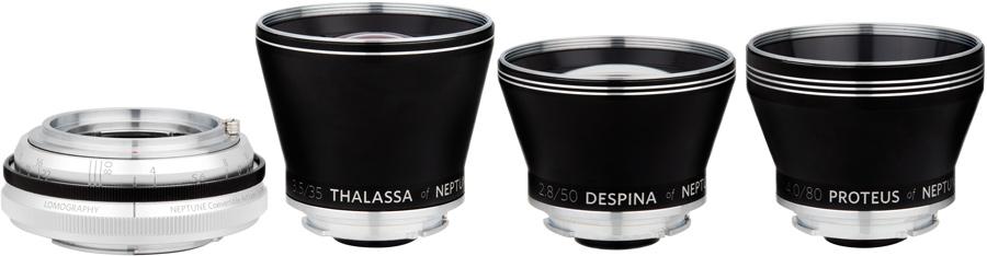 Neptune Convertible Art Lens System all lenses front