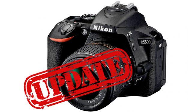 Nikon veröffentlicht Firmware 1.02 für D5500