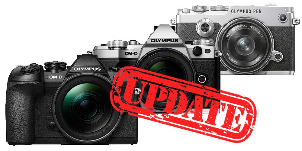 Olympus bringt umfangreiche Firmware-Updates für OM-D E-M1 Mark II, OM-D E-M5 Mark II und PEN-F