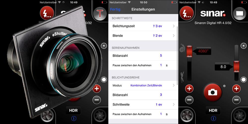 Jetzt auch für Android: Sinar veröffentlicht eShutter Control 2.2
