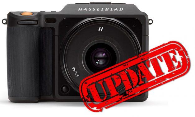 Für X1D-50C: Hasselblad veröffentlicht Firmware 1.22