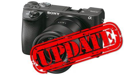 Sony veröffentlicht Firmware-Update für Alpha 6500 und Alpha 6300