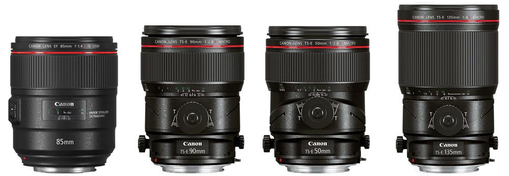 Neu von Canon: EF 85mm f/1.4L IS USM und drei TS-E Objektive