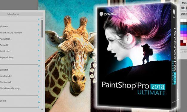 Corel veröffentlicht Bildbearbeitung PaintShop Pro 2018