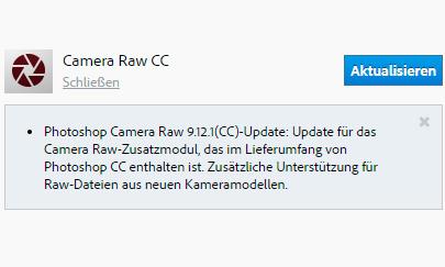 Photoshop-Update: Adobe Camera Raw 9.12.1 unterstützt Nikon D850