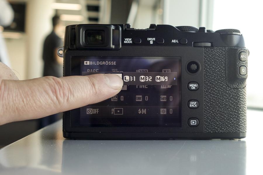 Fuji E-X3 Touchbedienung