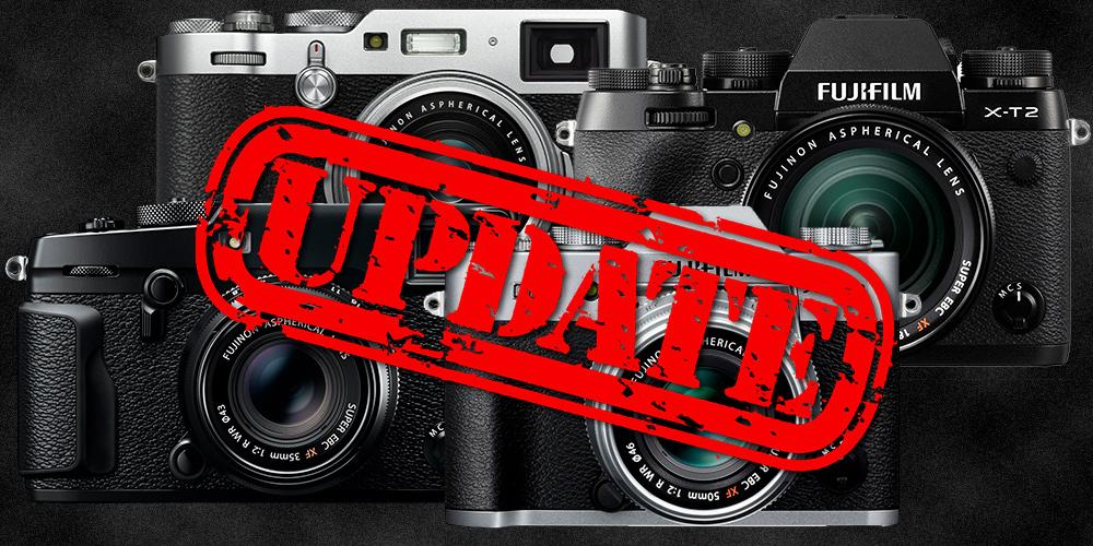Fujifilm kündigt neue Firmware für X-Pro2, X-T2, X-T20 und X100F an