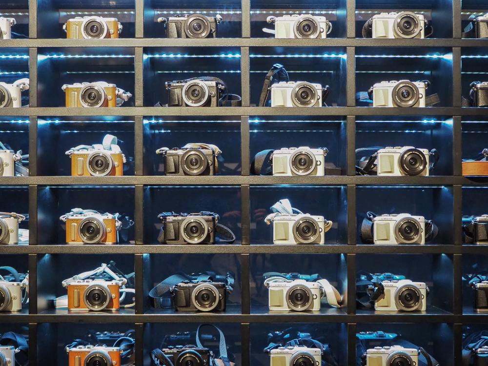 Kameras gibt es am Eingang. © Martin Vieten