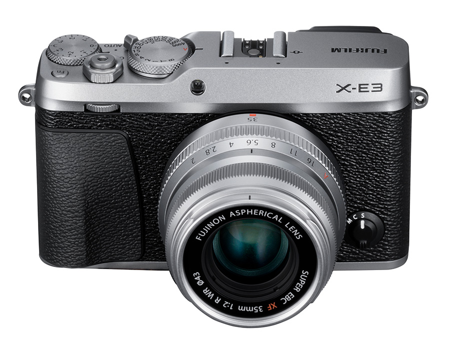 X-E3_Silver_Front_Up
