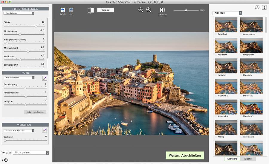screenshot photomatix pro 6 presets