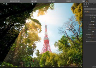 New Sun Rays filter