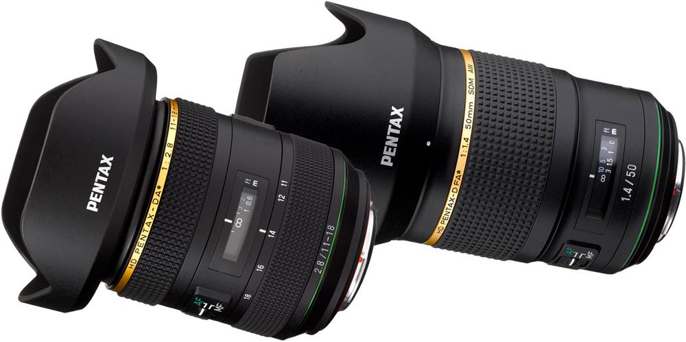 Pentax kündigt zwei neu Objektive an: D FA* 50mm F1.4 SDM AW und DA* 11-18mm F2.8