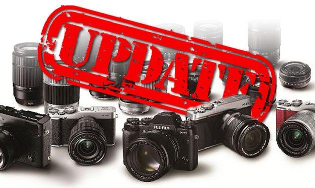 Fujifilm bringt Firmware-Updates für sechs Kameras