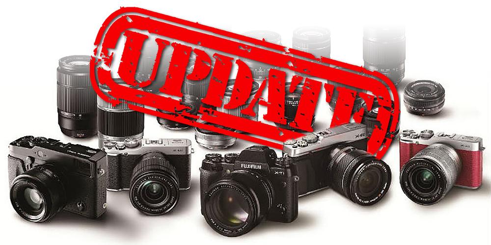 Fujifilm veröffentlicht Firmware-Update für elf Kameras der X-Familie