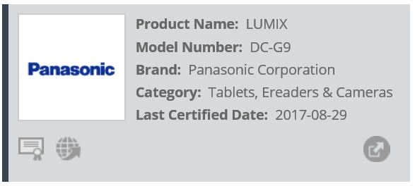 Panasonic Lumix G9 WiFi-Alliance