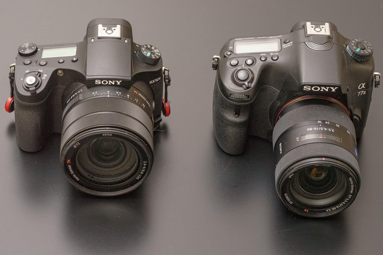 Größenvergleich RX10 IV A77 II