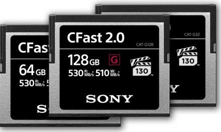 Sony präsentiert neue CFast-Karten mit bis zu 510 MB/s Schreibgeschwindigkeit