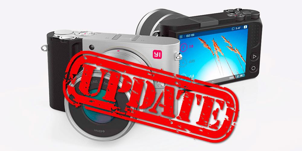 Yi M1: Umfassendes Firmware-Update veröffentlicht