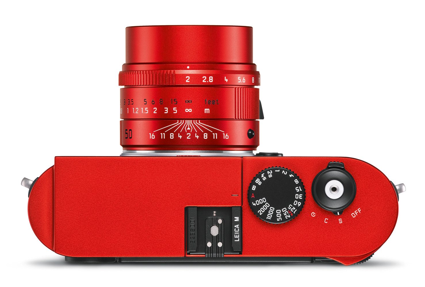 Leica M (Typ 262) red anodized finish_APO-Summicron 50 red_top