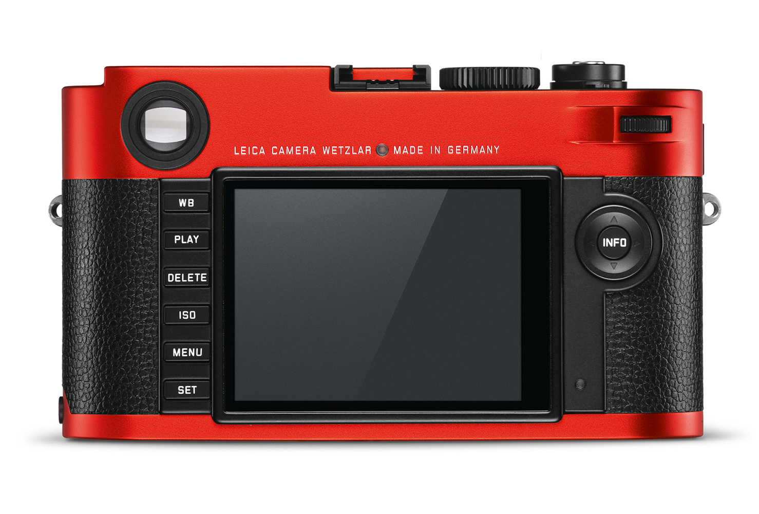 Leica M (Typ 262) red anodized finish_back