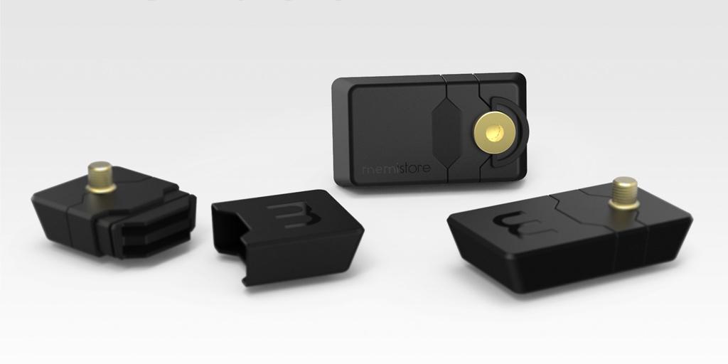 Memistore – Speicherkartenbox zum Anschrauben an die Kamera