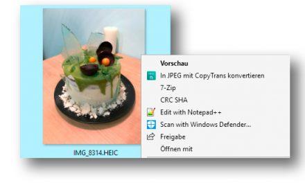 CopyTrans HEIC:Damit Windows HEIC-Fotos anzeigen kann
