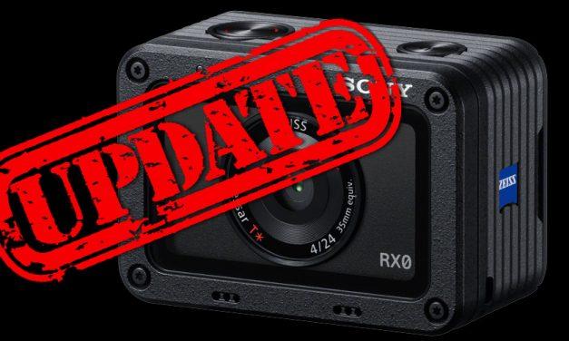 Für RX0: Sony veröffentlicht Firmware 2.0