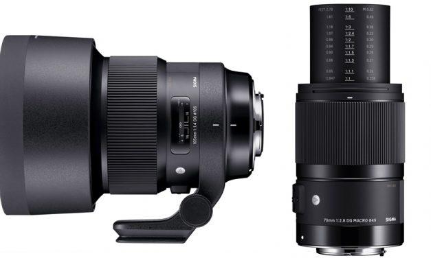 Neu von Sigma: 70mm F 2.8 DG MACRO | Art und 105mm F1.4 DG HSM | Art – auch für Sony E